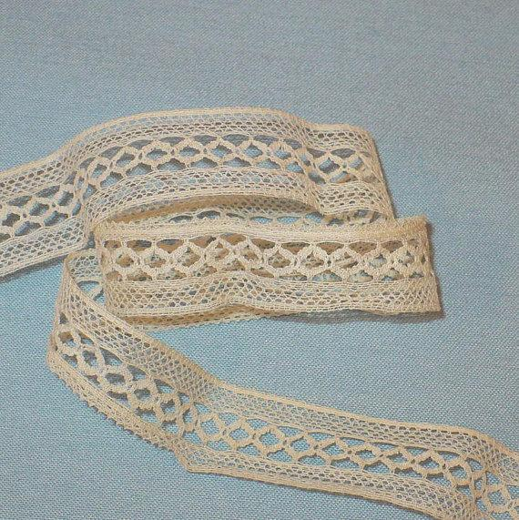 19mm Antique Needle Lace Nora's Needle Lace Antique French