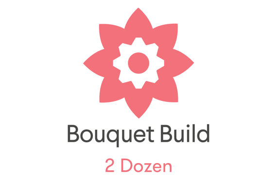 Hochzeit - Build Your Own Bouquets! Your kit includes 2 Dozen Real Touch Flowers,Satin Ribbon,Pixie Pins,Floral Tape,Wire Cutters and a Helpful Guide