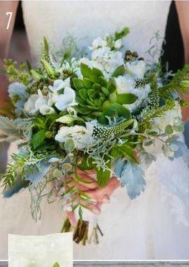 Wedding - Bouquets In Green