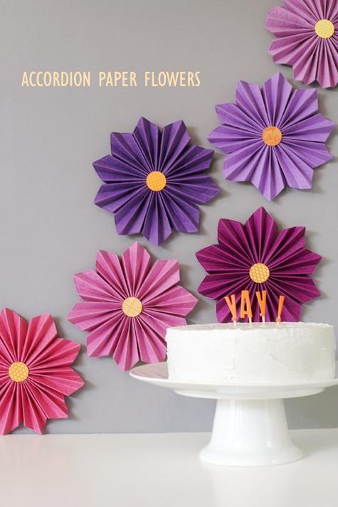 Diy Tutorial Diy Crepe Paper Flowers Diy Accordion Paper Flowers