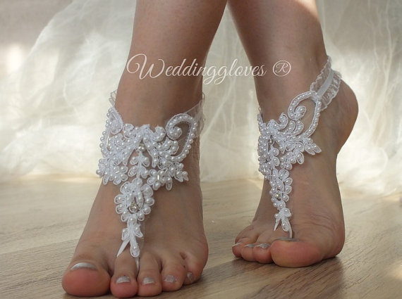 White Beach Shoesbridal Sandals Lariat Wedding Bridal Bellydance Gothic Shoes Summer Wear Handmade