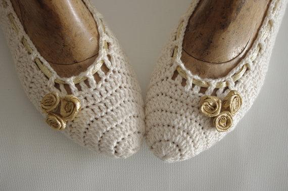 Свадьба - Bridal wedding dance shoes Ivory  Party Bridesmaid