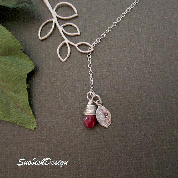 Hochzeit - Personalized Initial Necklace, Birthstone Necklace, Dainty Necklace, Mothers Necklace, Sister Necklace, Wedding Jewelry, Bridal Jewelry
