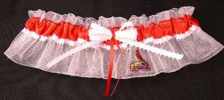 Mariage - St. Louis Cardinals Baseball Wedding Bridal Garter