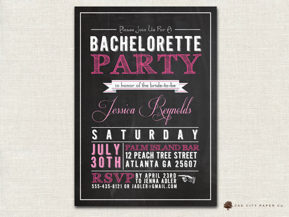 Bachelorette invitation chalkboard themed bachelorette party bachelorette invitation chalkboard themed bachelorette party invitation template printable maxwellsz