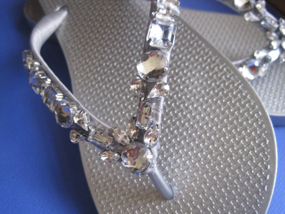 Mariage - LIMITED EDITION So Sweet Bride Daphne Rose Montee Princess Bride Wedding Crystal Flip Flops