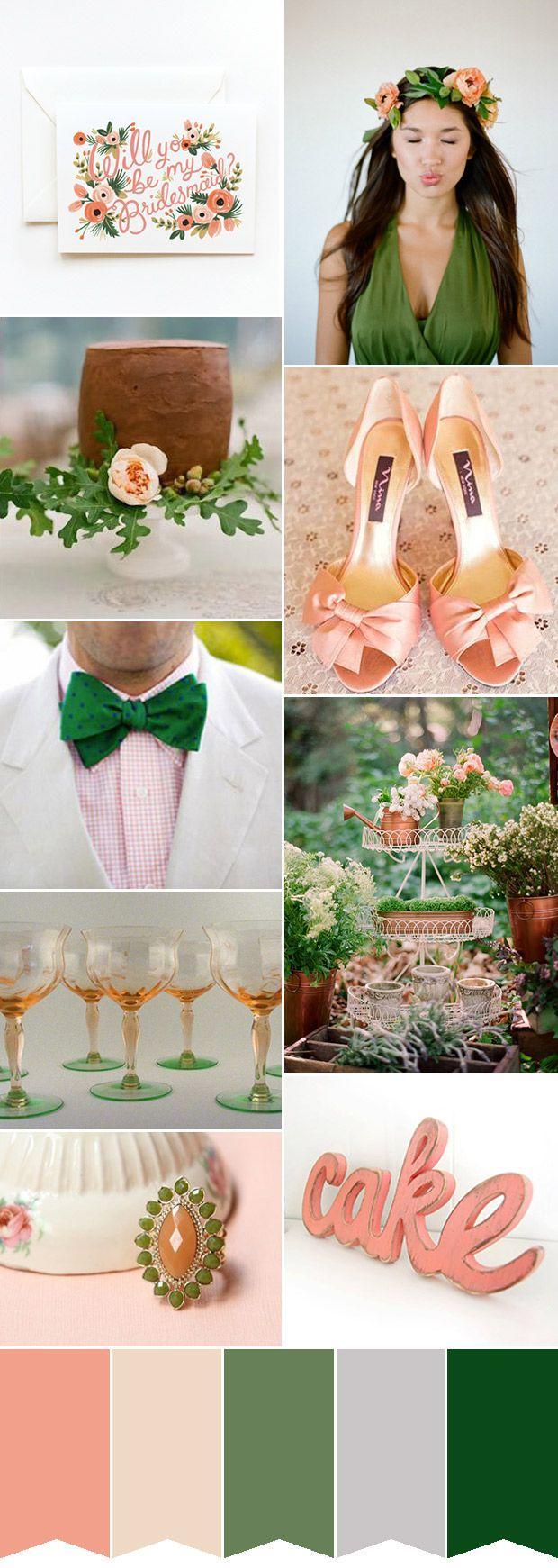 Свадьба - Peach And Green Wedding