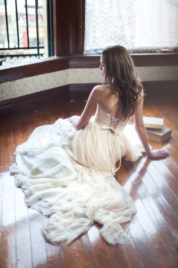 Boda - Madison // Lace And Chiffon Wedding Dress