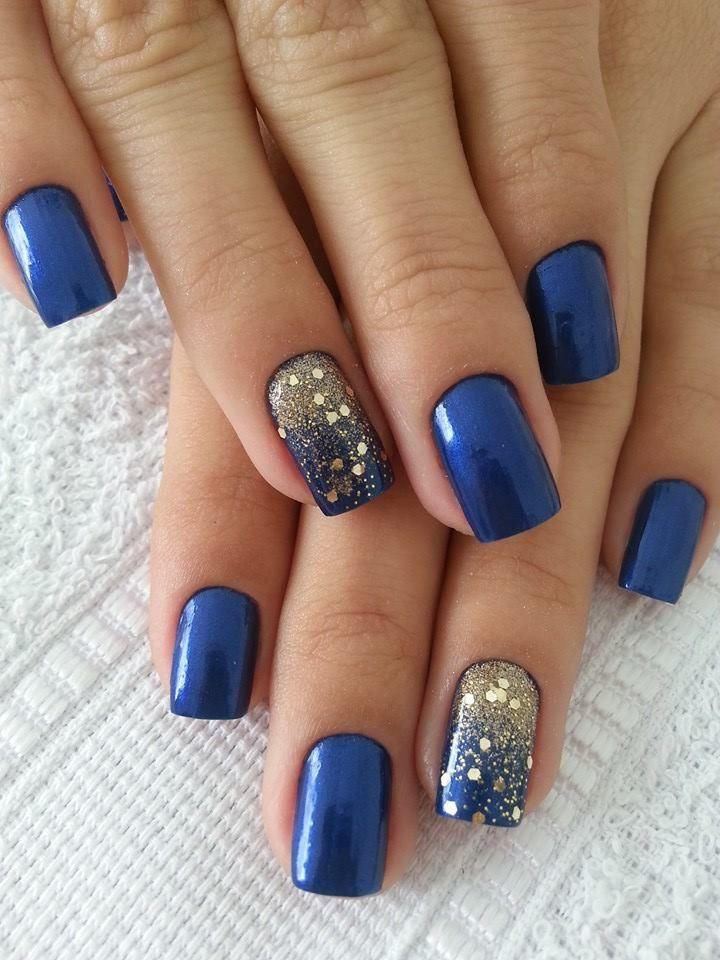 16 Great Navy Nail Designs - Nagel - 16 Great Navy Nail Designs #2280222 - Weddbook