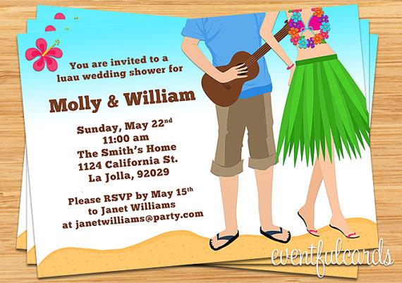 Invitation luau couples wedding shower invitation 2280385 weddbook luau couples wedding shower invitation filmwisefo