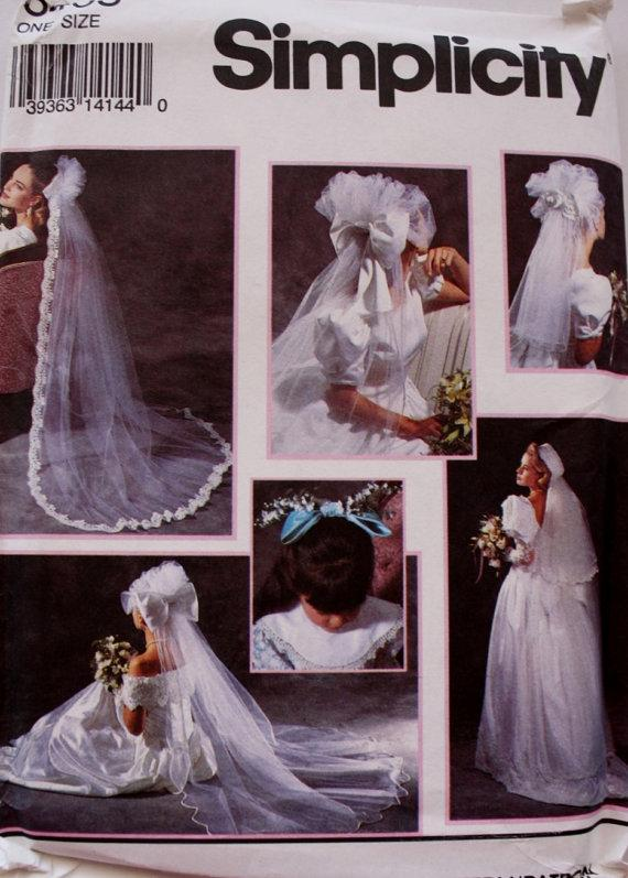 Bridal Veils Headpieces And Wedding Shoe Decorations Simplicity 8463 ...