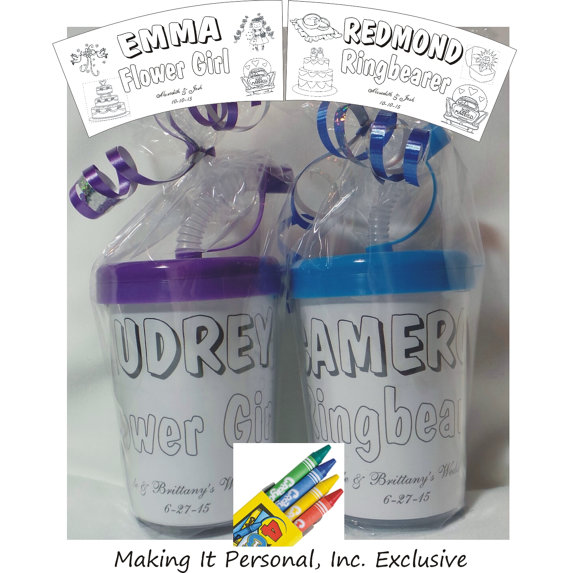 SALE ** Ring Bearer Or Flower Girl Customized Sipper Cup ...