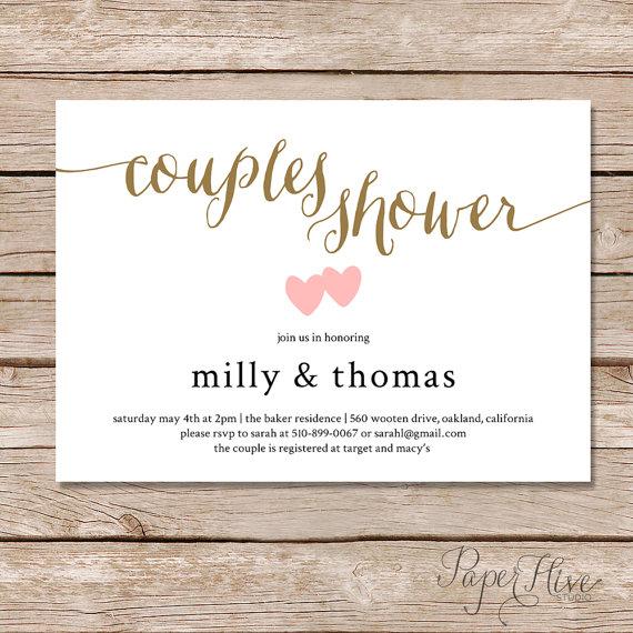 Hochzeit - Couples Shower invitation / Couples wedding shower Invite / DIY Printable digital file