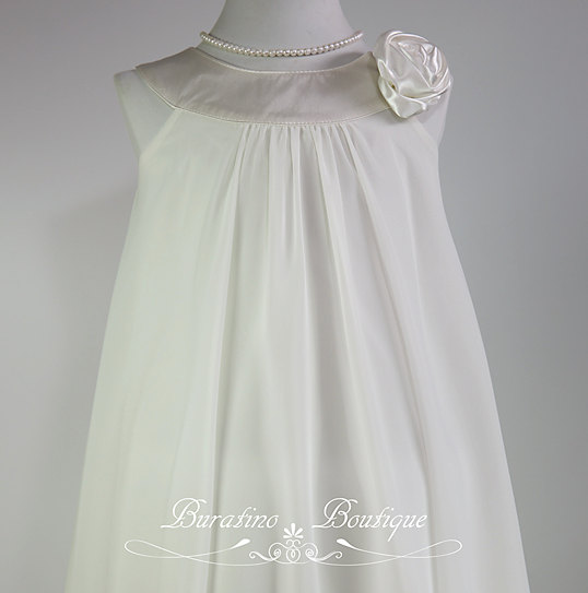 Mariage - Ivory Flower Girl Dress  Special Occasion Dress White, Ivory Rose Red girls dresses (ets0160iv)