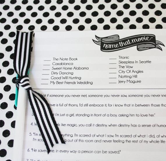 Hochzeit - Bridal Shower Game 3 Pack- Instant Download