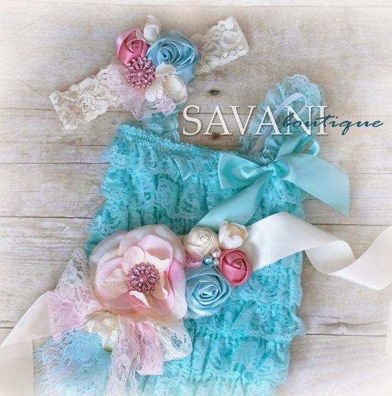 ba439fd14317 Lace Baby Romper