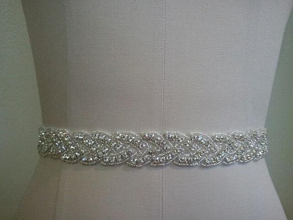 Hochzeit - SALE - Wedding Belt, Bridal Belt, Sash Belt, Crystal Rhinestone Sash - Style B70022