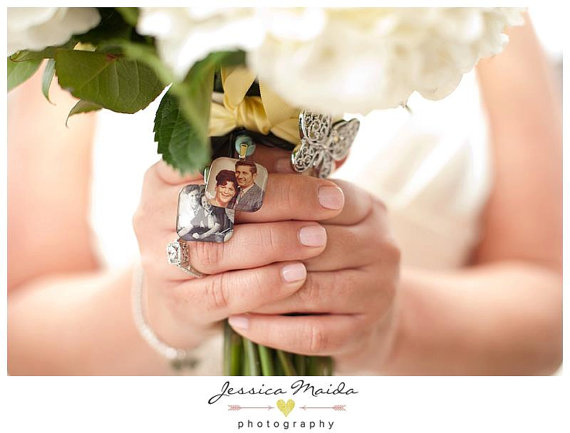 Mariage - Photo Memory Charm for Wedding Bouquet