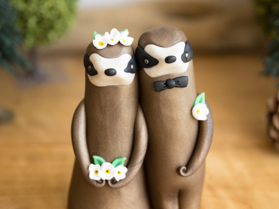 Sloth Wedding Cake Topper By Bonjour Poupette