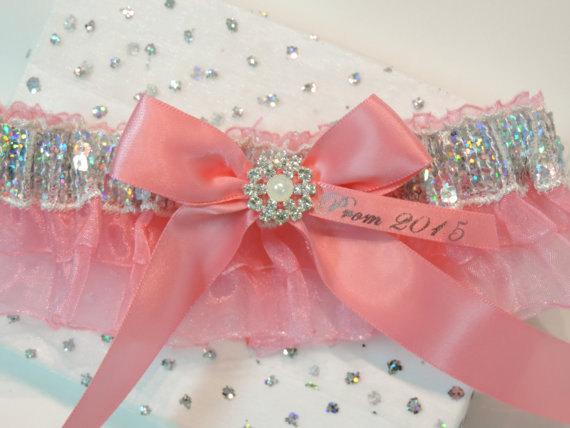 Свадьба - Prom Garters, Coral Prom Garter, Custom Colors Prom Garter, Prom Garter, Wedding  Garters, Prom Garters.