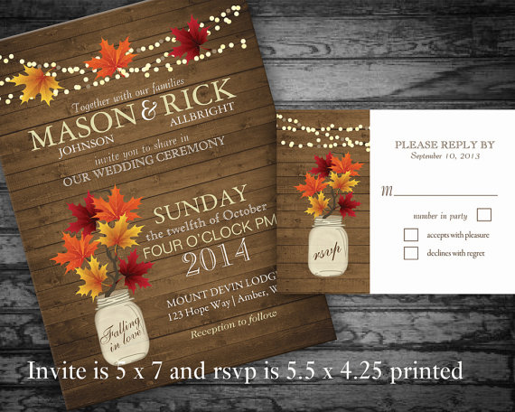 Invitation Rustic Fall Wedding Invitations 2280560 Weddbook