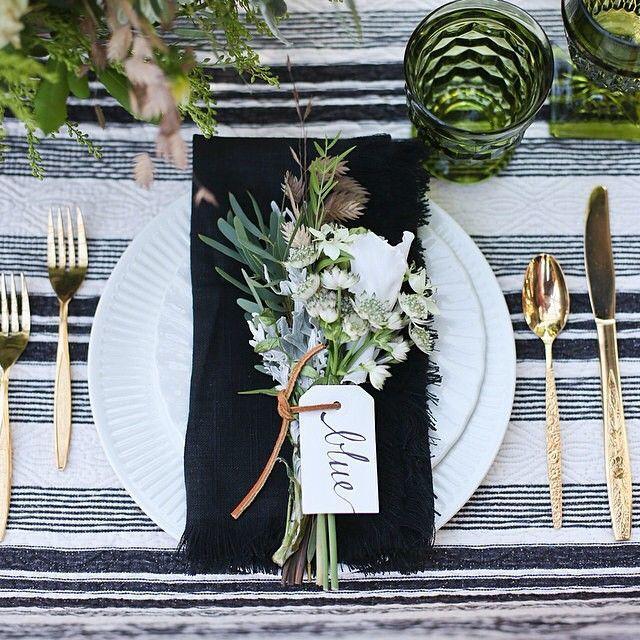 Hochzeit - Place Setting Details