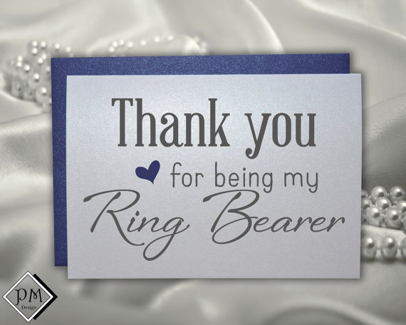 Mariage - Ring bearer wedding card gift for ring bearers thank you for being my ring bearer for weddings note card greeting cards with color envelopes