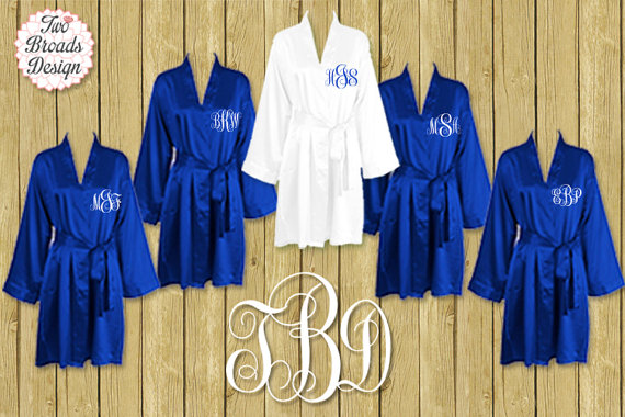 famous designer brand online here best quality FREE ROBE Set Of 7 Or MORE Silk Satin Robes, Royal Blue Robe ...