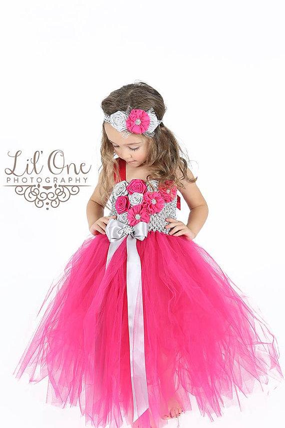 Mariage - Flower Girl Dress....Birthday Tutu Dress.... Tulle Dress