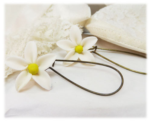 Mariage - Jasmine Short or Long Earrings - Wedding Jasmine earrings, Bridal Jasmine Jewelry