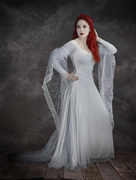 Tianna fairy tale romantic wedding dress handmade to for Plus size gothic wedding dress
