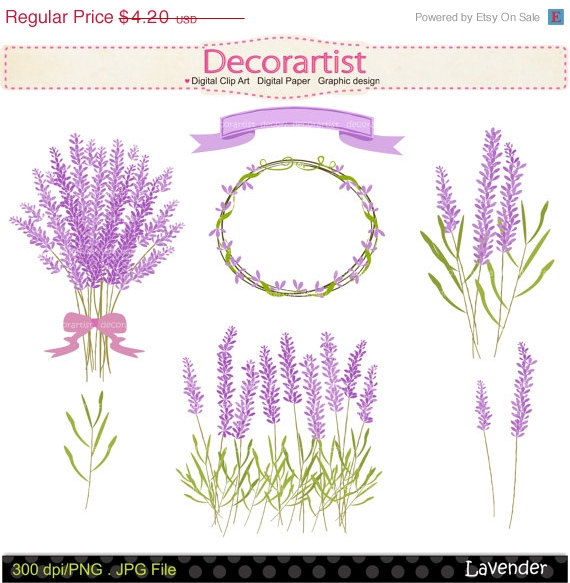 on sale flowers clip art, lavender clip art,frame clip art, Beautiful flower