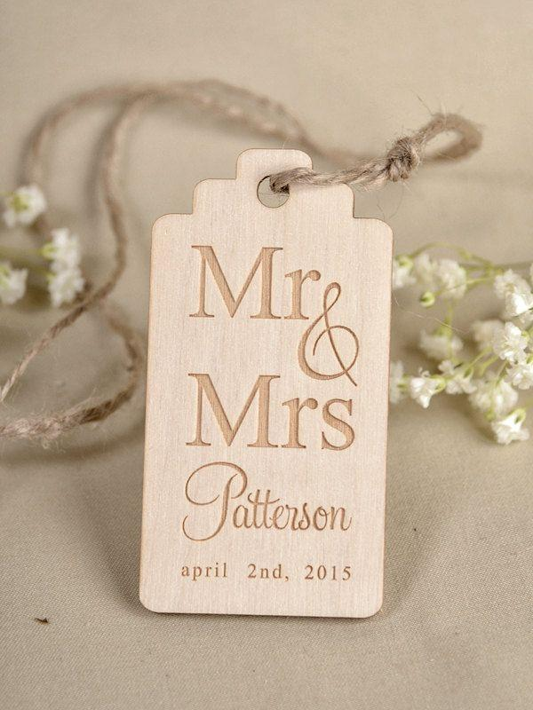 How To Make Wedding Gift Tags : ... wedding-wood-tag-favors-tags-wedding-gift-tag-rustic-rustic-favor-tags