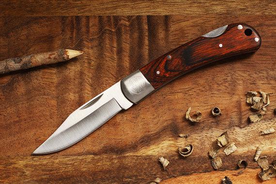 زفاف - SET OF 6 - Engraved Pocket Knives - Groomsmen Personalized Knife - Custom Groomsmen Gifts - Wood Handle Knife