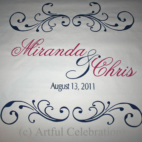 زفاف - Custom Wedding Aisle Runner Hand Painted, DEPOSIT for any length and design
