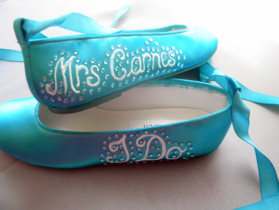 Tiffany Blue Flat Wedding Shoes