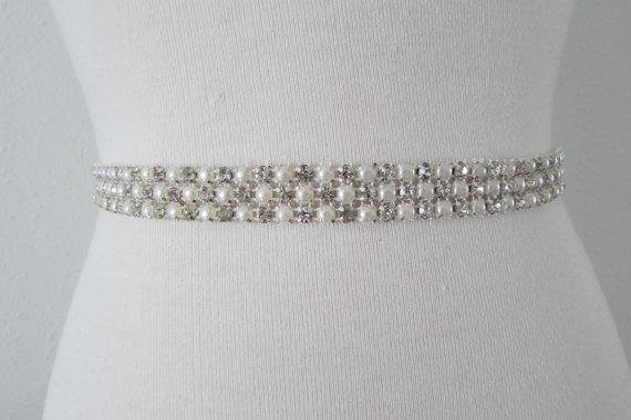 Hochzeit - SALE Wedding Belt, Bridal Belt, Bridesmaid Belt, Bridesmaid Belt, Crystal Rhinestone, B1099