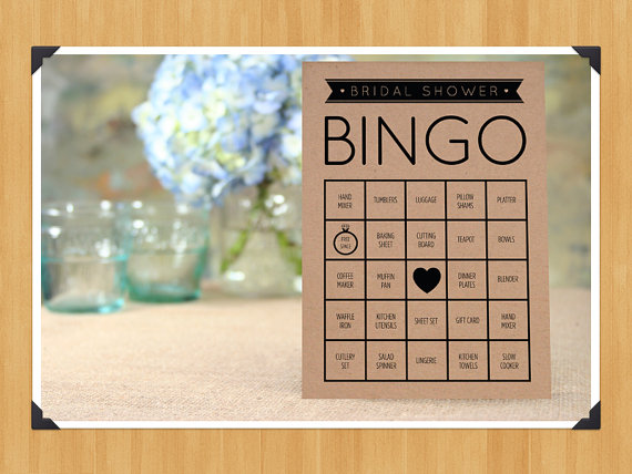Свадьба - Printable Bridal Shower Bingo Game, 60 Cards in Set, DIY, Instant Download, Printable PDF, Black and White