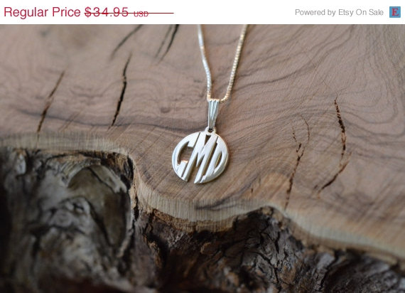 Mariage - Gift for Mom-Mini Block Monogram Necklace - Sterling Silver, monogram jewelry, bridesmaid gift, bridal gift, handmade monogram