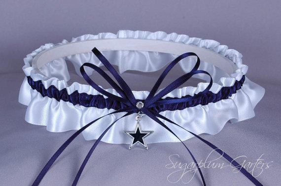 Hochzeit - Dallas Cowboys Wedding Garter - Ready to Ship
