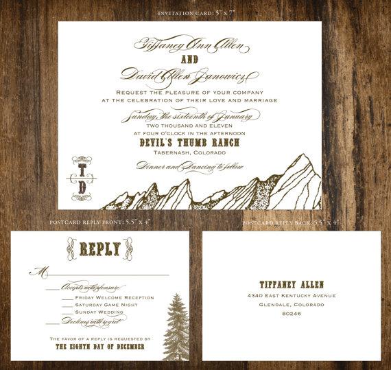 Mariage - SAMPLE - Mountain Ranch Wedding Invitation