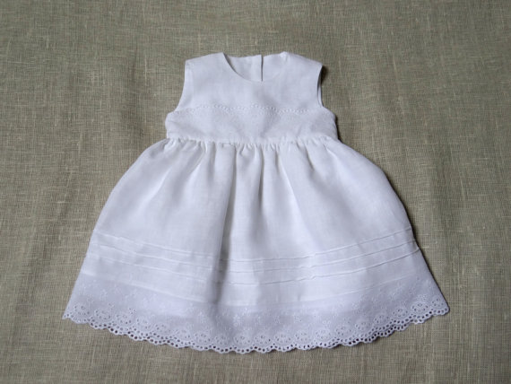 d74d6329213 Baby girl baptism linen dress heirloom gown special occasion blessing  christening newborn coming home flower girl dress eco friendly white