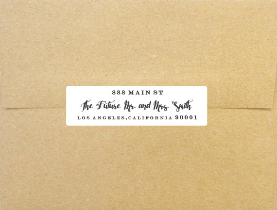 Custom Wedding Calligraphy Script Return Address Labels 3