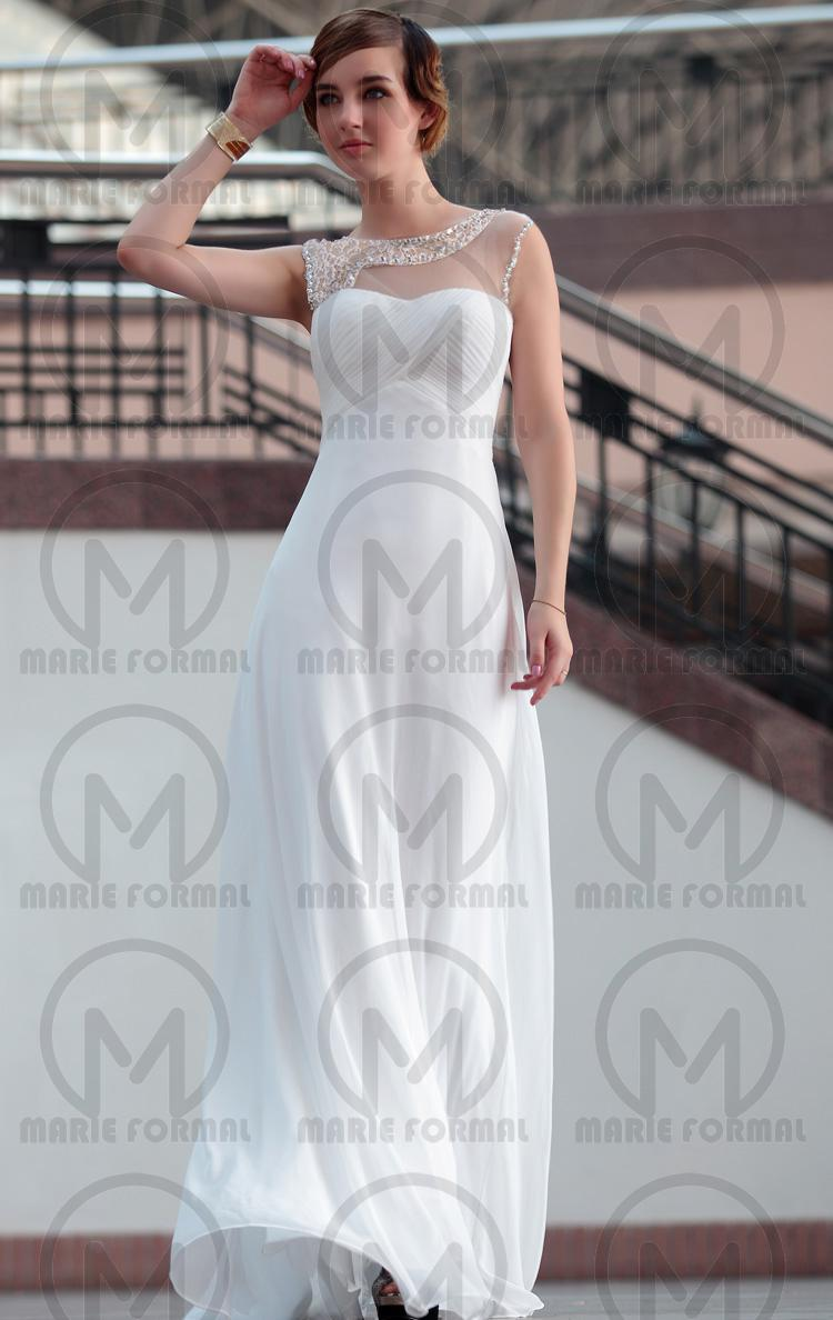 Wedding - A-line A-line white formal dress for girls