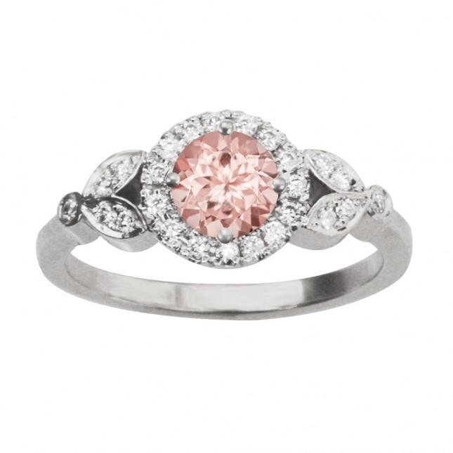 Свадьба - ROME CROWN MORGANITE ENGAGEMENT RING