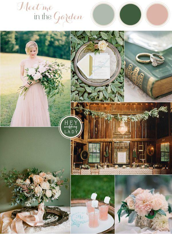 Свадьба - Down The Garden Path – A Forest Green And Peach Wedding