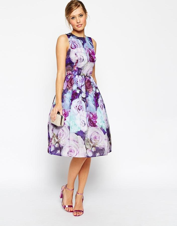 Hochzeit - ASOS COLLECTION ASOS Floral Soft Prom Dress