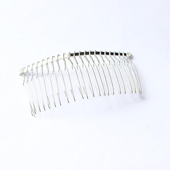 زفاف - Large Metal Bridal Wedding Birdcage Veil Hair Comb Clip
