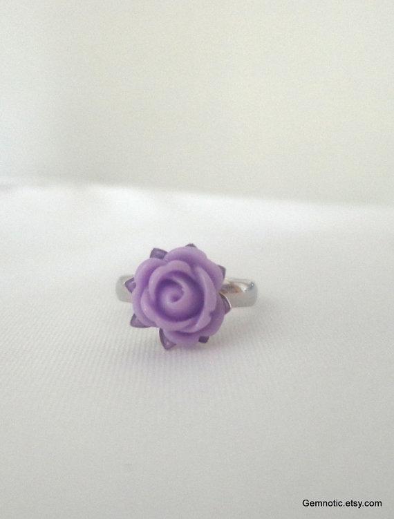 Свадьба - Flower girl gift, flower girl jewely, flower girl ring, girls ring, girls jewelry, childrens rings, childrens jewelry, wedding jewelry