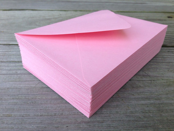 50 4bar A6 A7 5x7 Envelopes Blossom Light Pink Paper Source